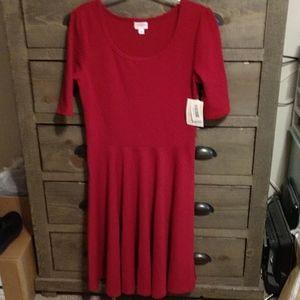 Lularoe Red Nicole Dress